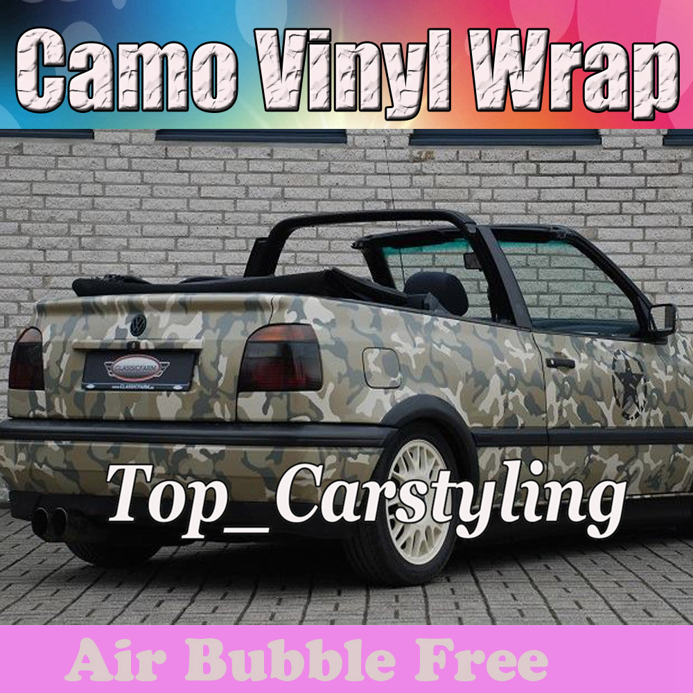 Military Desert Camo Vinyl Army Camo Automobile repacking Vinyl Sticker Wrapping Camouflage covering size 1.52x30m/Roll 5x98ft