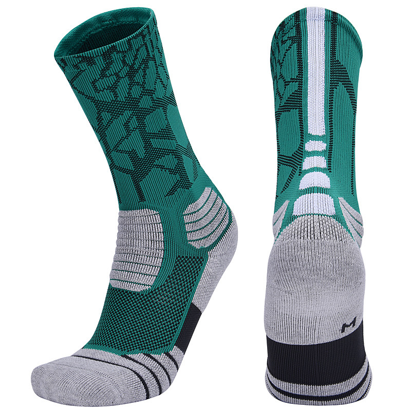 Brothock Professional Basketball Socks Boxing Elite Thick Sports Socks Non-slip Durable Skateboard Towel Bottom Socks Stocking