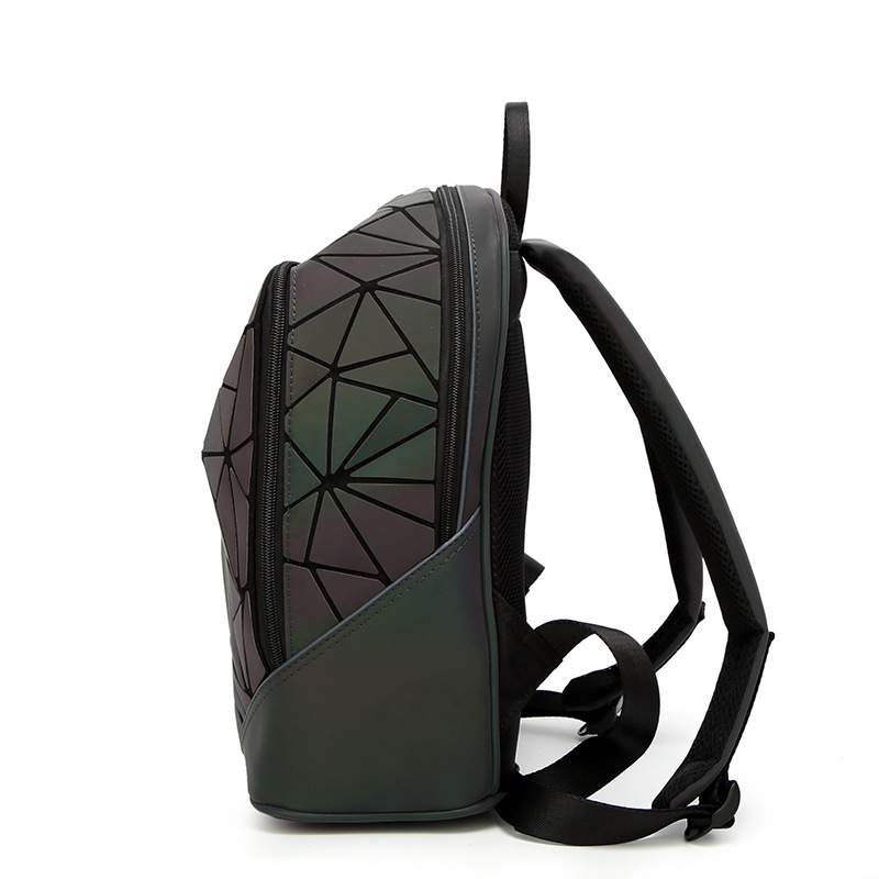 Newest Backpack Noctilucent Women Fashion Bags Laser Lattice Geometric Luminous Backpack For Teenage Girls School Bags #3