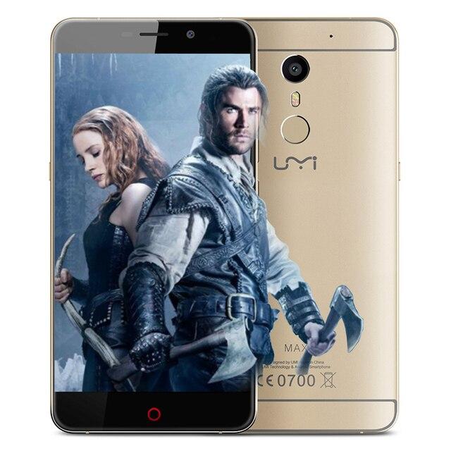 "Original UMI MAX Cuerpo de Metal 4G LTE 5.5 ""pulgadas Helio P10 Octa Cor 3G RAM 16 GB ROM 13MP Android 6.0 teléfono Inteligente Desbloqueado"