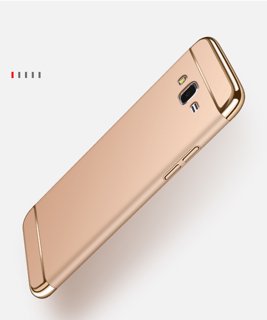 Case For Samsung Galaxy J2 Prime Luxury Royal Gold Metal Plating Hard Cover Removable 3 In 1 Fundas