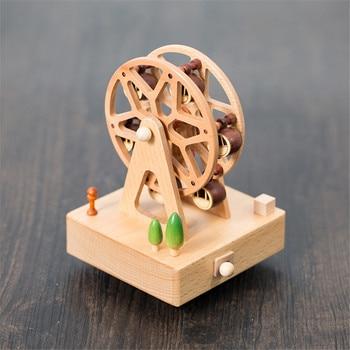 деревянная коробка для продажи | Милая Деревянная Музыкальная Коробка с твердой основой для домашнего офиса, гравировка музыкальной коробки, декор WXV распродажа