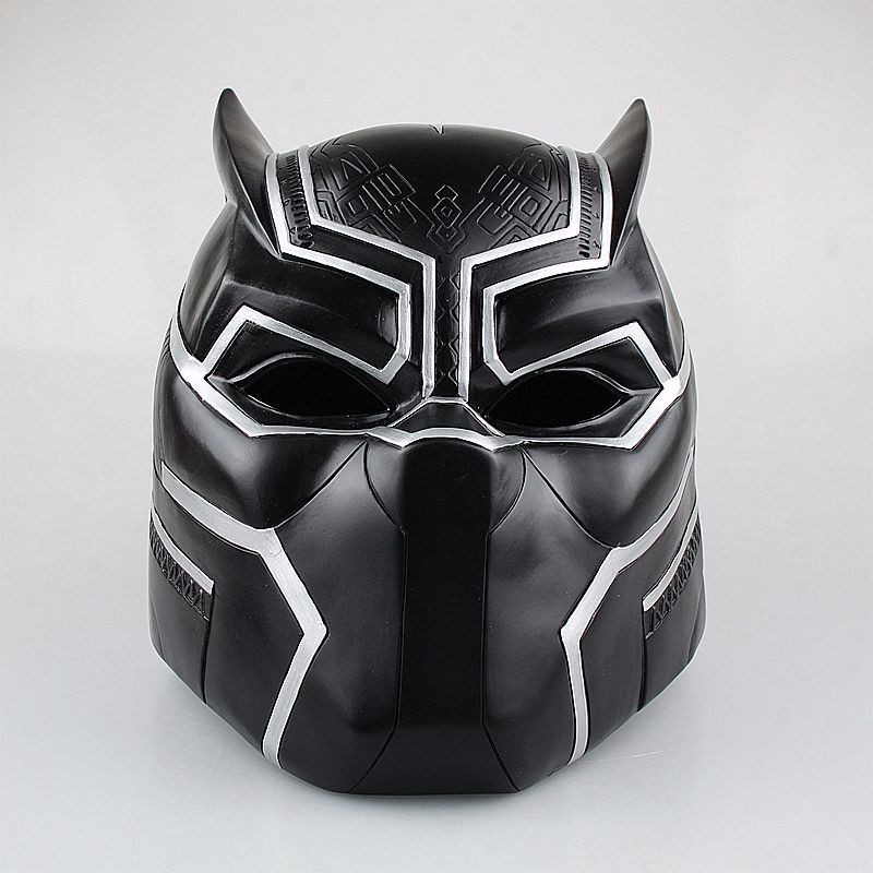 Huong Movie Figure 1:1 Captain America 3 Black Panther Helmet Cosplay Collectors Action Figure Toys Christmas Gift Model avengers captain america 3 civil war black panther 1 2 resin bust model panther statue panther half length photo or portrait