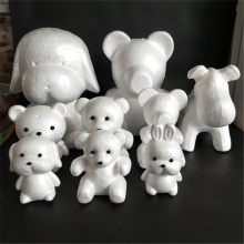1 шт 190 мм моделирование полистирола пенопласт медведь белый ремесло шары для DIY рождественской вечеринки украшения поставки подарки
