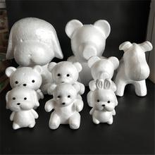 1 sztuk 190mm modelowanie styropianowe kulki z pianki niedźwiedź biały kulki rzemiosła dla majsterkowiczów Christmas Party materiały dekoracyjne prezenty tanie tanio 1 szt foam model
