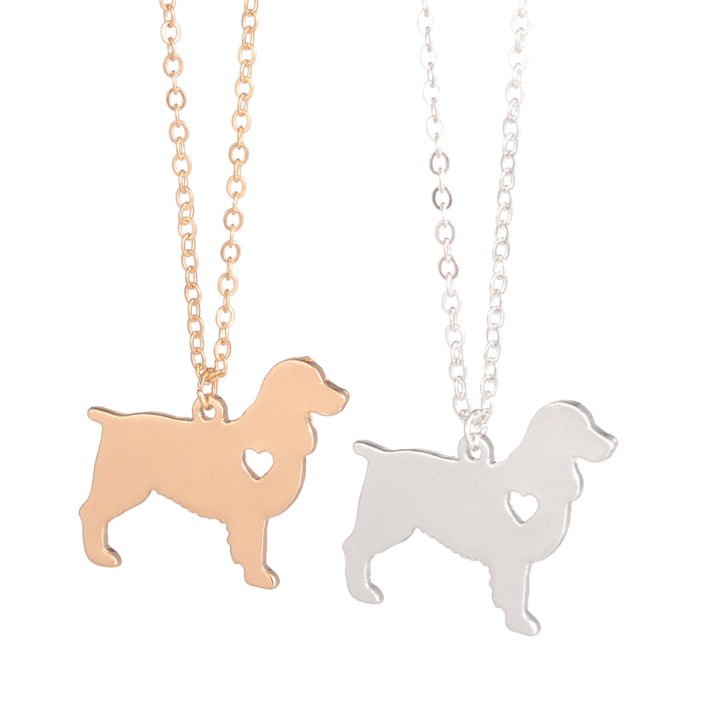 Statement Schmuck Gold Silber English Springer Spaniel Halskette Custom Dog Halsketten Dog Memorial Geschenk Rescue Christmas Geschenk