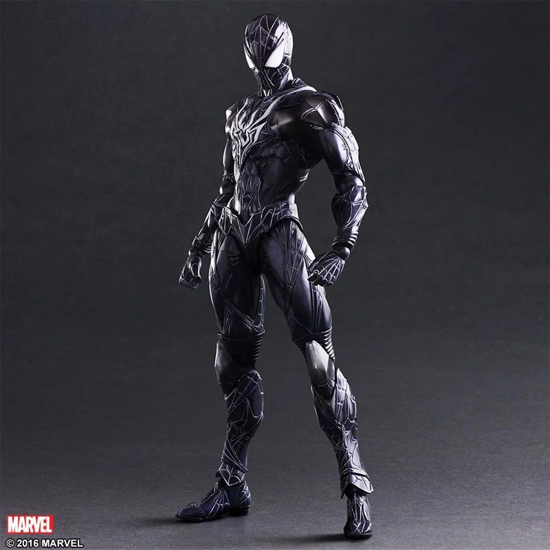Halloween Toy Gift Spiderman Action Figure Collection 26.5cm PA Limited Edition Blue Spider Man Model Doll Movable Decorations xinduplan marvel shield iron man avengers age of ultron mk45 limited edition human face movable action figure 30cm model 0778