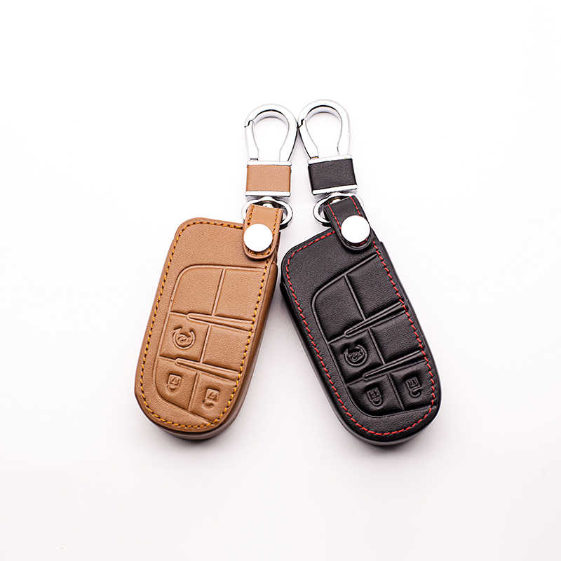 Newest Car Style Leather Case Keyboard Cover for Jeep Renegade 3 Button Remote Control Smart Cover Car Key Bag Car wallet 2017