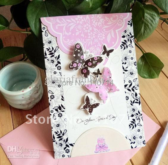 3d Greeting Card Birthday Card With Envelope Handmade Card Mix