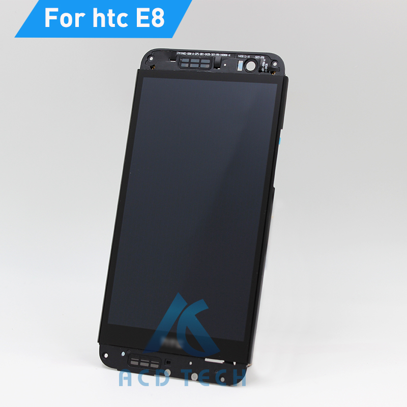 цена  New Full LCD Display + Touch Screen Digitizer Assembly With Frame For HTC One E8 Replacement Repair Part Black Free Shipping  онлайн в 2017 году