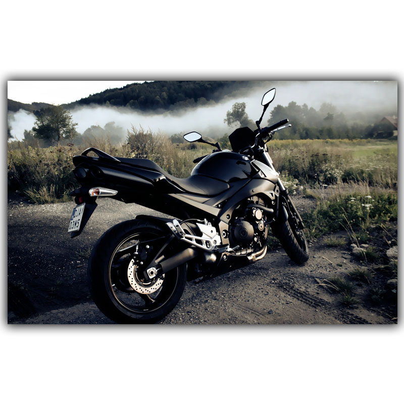 Gsxr 600 Motorcycle Poster Motorcycle Enthusiasts Silk Canvas Home