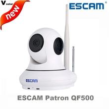 Escam cámara ip inalámbrica qf500 motion detecotr apoyar una tecla de armado/desarmado cámara ip de alarma de hasta 32 GB TF tarjeta con sensor de puerta