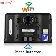 Otstrive 7 polegada GPS Android WiFi GPS Navigation Car Truck Gravador de Vídeo do DVR 16 GB Allwinner A33 Quad-core CPU Tablet GPS DVR