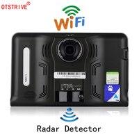 Otstrive 7 дюймов gps Android WiFi gps навигации автомобиля грузовик DVR 16 ГБ видео Регистраторы Allwinner A33 Quad core Процессор Tablet gps DVR