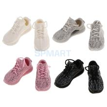 """1/6 Scale Lace Up Sneakers Sports Trainers Shoes Accessories for 12"""" Female Hot Toys Sideshow Enterbay Action Figure Dolls"""