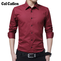 Brand Clothes Fashion Shirts Men Long Sleeve Solid White Casual Men S Work Shirts Slim Fit
