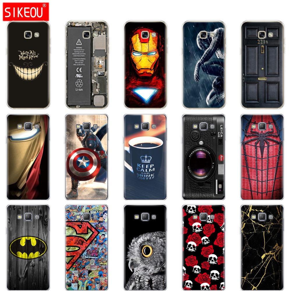 Silicone Case For Samsung Galaxy A3 A5 A7 2015 2016 2017 Case  A500 A510 A520 A300 A310 A320 A700 A710 A720 Cover Funda
