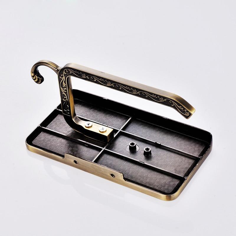 1 шт. ретро металл для туалетной Бумага стойки с телефона Полка Полки для ванной под старину Вырезка настенный Ванная комната Бумага Держате...