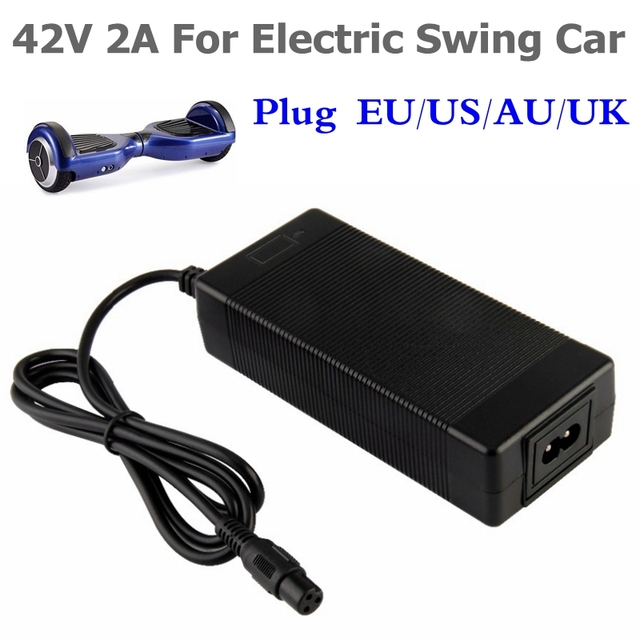 42 v 2A Phổ Battery Charger cho Hoverboard Thông Minh Cân Bằng Bánh Xe 36 v điện điện scooter Adapter Sạc EU/ MỸ/AU/ANH Cắm