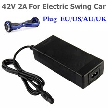 42V 2A Universal Battery Charger for Hoverboard Smart Balance Wheel 36v electric power scooter Adapter Charger EU/US/AU/UK Plug(China)
