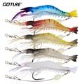 Goture 5pcs/lot Silicone Bait 8.5cm 6g Luminous Shrimp Fishing Lure Artificial Baits Soft Lure Carp Fishing Tackle leurre souple
