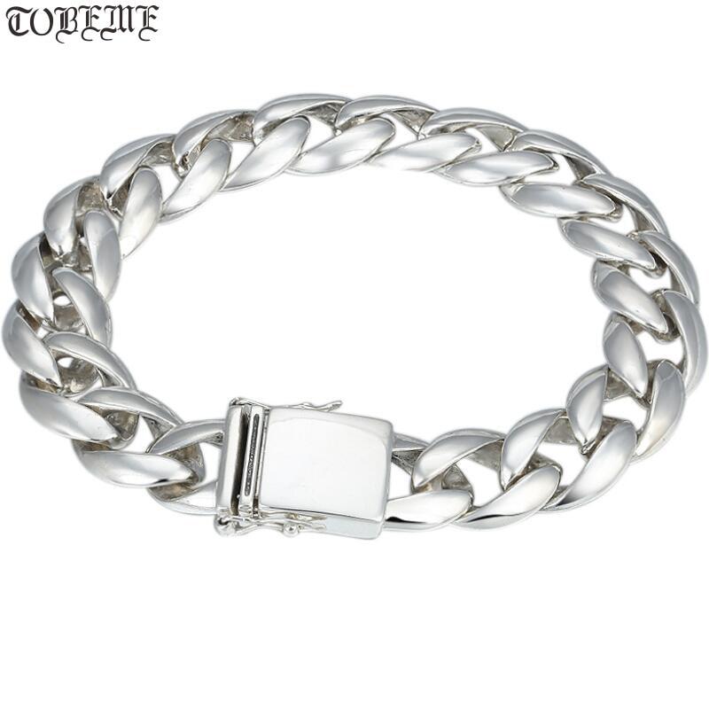 100% 925 Silver Bracelet Vintage Solid 925 Sterling Silver Chain Bracelet Man Bracelet100% 925 Silver Bracelet Vintage Solid 925 Sterling Silver Chain Bracelet Man Bracelet