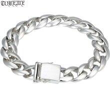 100% 925 Silver Bracelet Vintage Solid 925 Sterling Silver Chain Bracelet Man Bracelet 925 sterling silver bracelet virgin mary male bracelet 057913w