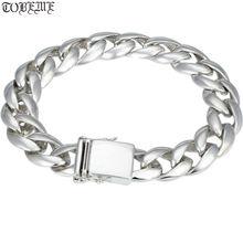 100% серебряный браслет винтажный однотонный мужской цепочка