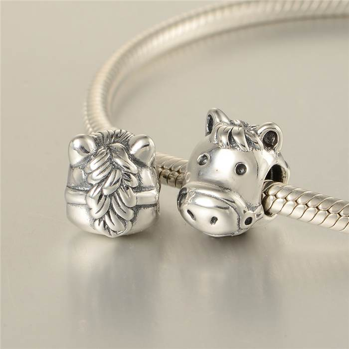 Beads Beads & Jewelry Making Horse Head Charm Beads Fits Authentic Brand Bracelet Silver 925 Charms Original Sterling Silver Jewelry For Women Gifts