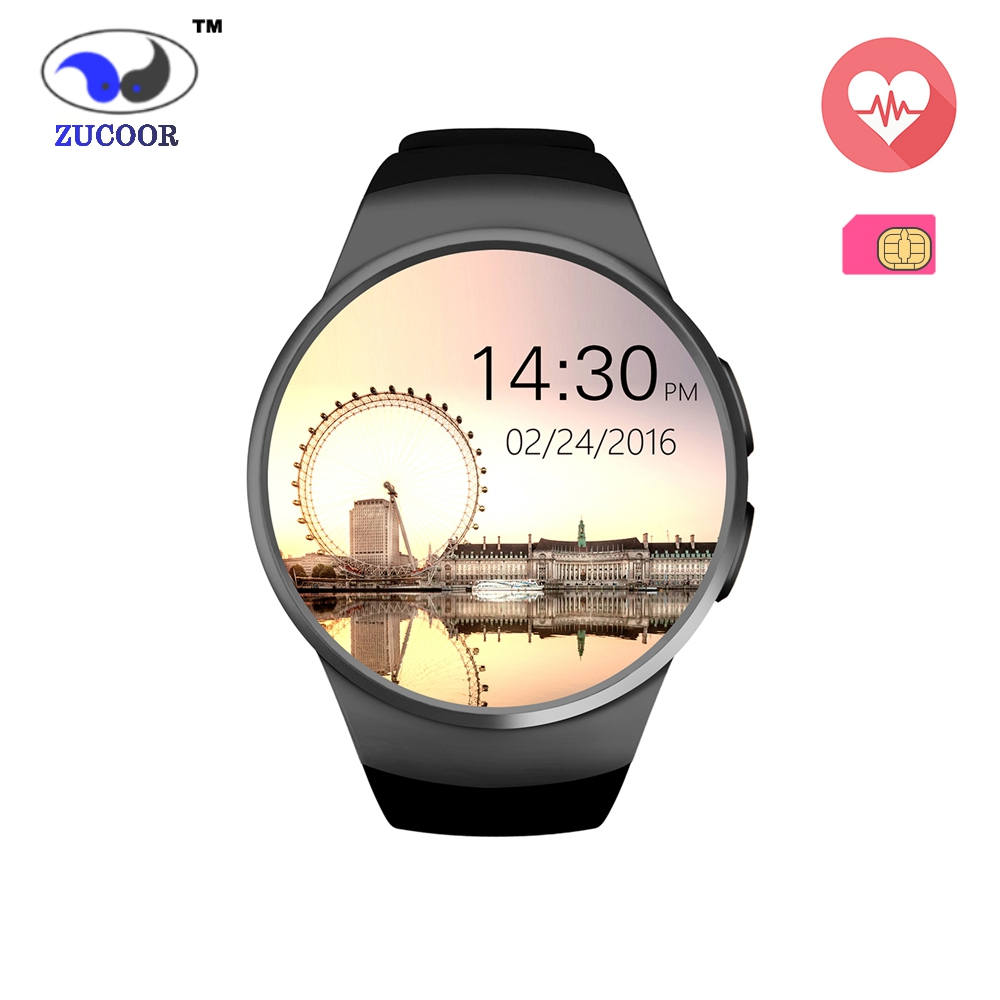 Men Women s Smart Watch Phone KW18 Full Round Screen Heart Rate Monitor font b Smartwatch