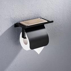 Лаконичный держатель для рулонной бумаги из нержавеющей стали, настенный держатель для туалетной бумаги, держатель для телефона, приспособ...