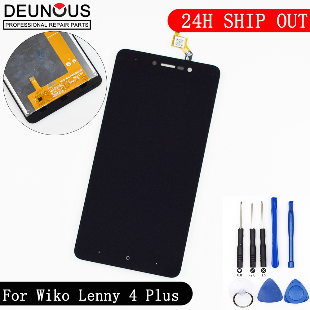 New For Wiko Lenny 4 Plus LCD Display and Touch Screen With Tools And Adhesive 5.5 Inch For Wiko Lenny 4 Plus Mobile PhoneNew For Wiko Lenny 4 Plus LCD Display and Touch Screen With Tools And Adhesive 5.5 Inch For Wiko Lenny 4 Plus Mobile Phone