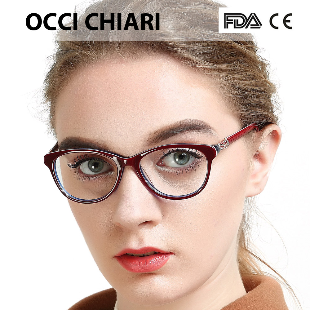 Image 4 - OCCI CHIARI High Quality Acetate Glasses Men Retro Vintage Prescription Glasses Women Optical Spectacle Frame Round OC7205Womens Eyewear Frames   -
