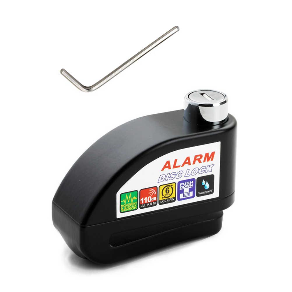 Alarm Disc Kunci Tahan Air Sepeda Motor Kunci Alarm Kunci Rem Cakram Sepeda Lock Anti Pencurian Keamanan Llavero Aksesoris Sepeda