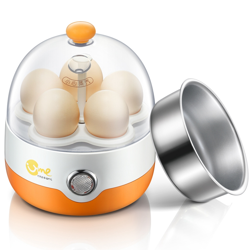 DMWD Multifunctional Mini Electric Egg Cooker Boiler Breakfast Maker Food Heating Steamer For 1 People Automatic Power Off 220V multifunctional electric egg boiler cooker mini steamer poacher breakfast cooking tools machine kitchen utensils