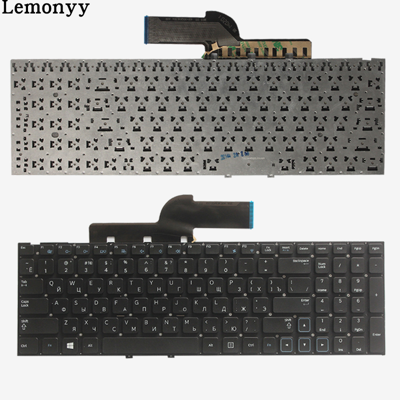 Novo russo para samsung 300e5a 305e5a 300v5a 305v5a np300 np300e5a np305e5a np300v5a np305v5a 300e5x ru teclado do portátil sem moldura