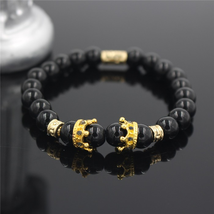 gold-imperial-crown-with-natural-glossy-stone-black-bracelet-2
