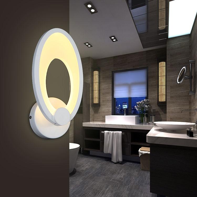 ФОТО Modern LED Wall Lamp For Bathroom Bedroom Wall Sconce White Indoor Lighting Lamp AC100-265V LED Wall Light Indoor Lighting
