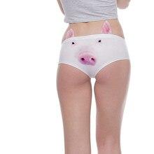 c790664ad Women Animal 3D Digital Printing Underwear Comfort Knickers Breathable Sexy  Intimates Underwear Triangle Female Briefs(