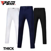 2019 New PGM Golf Pants Men Spring Autumn Winter Thick Golf Trousers Man Slim Comfort Elastic Leisure Trousers Navy blue White