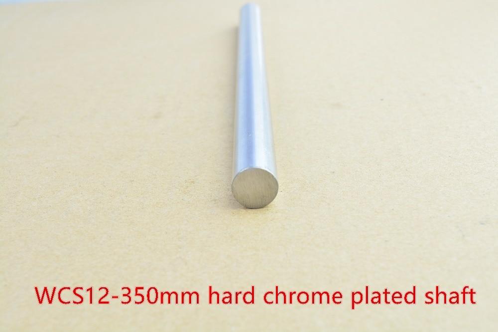 3D printer rod shaft 12mm linear shaft L 350mm chrome plated linear guide rail round rod shaft for cnc robot 1pcs