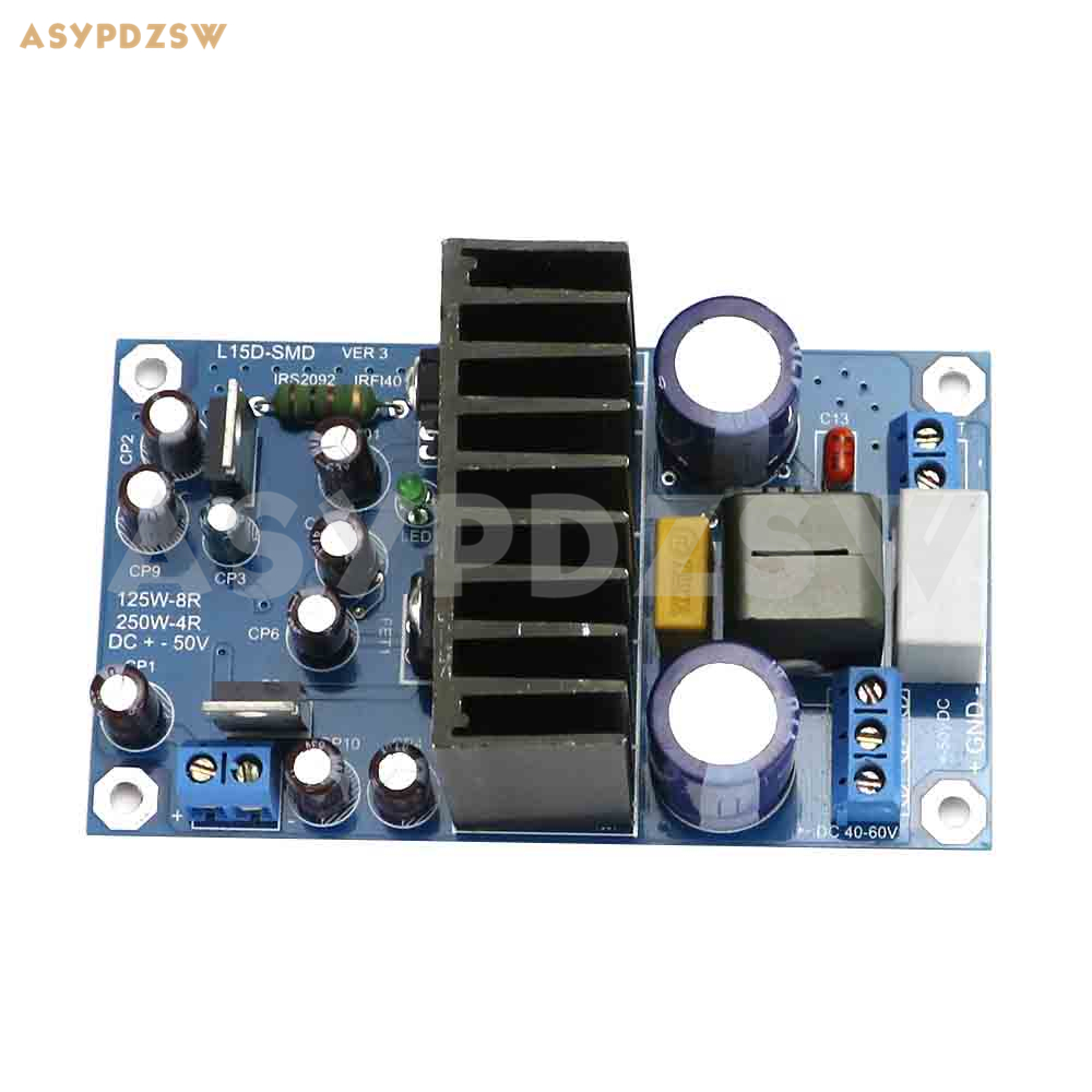 L15DSMD VER3 Klasse D IRS2092S High Power 250 watt Mono kanal digital power verstärker fertig bord