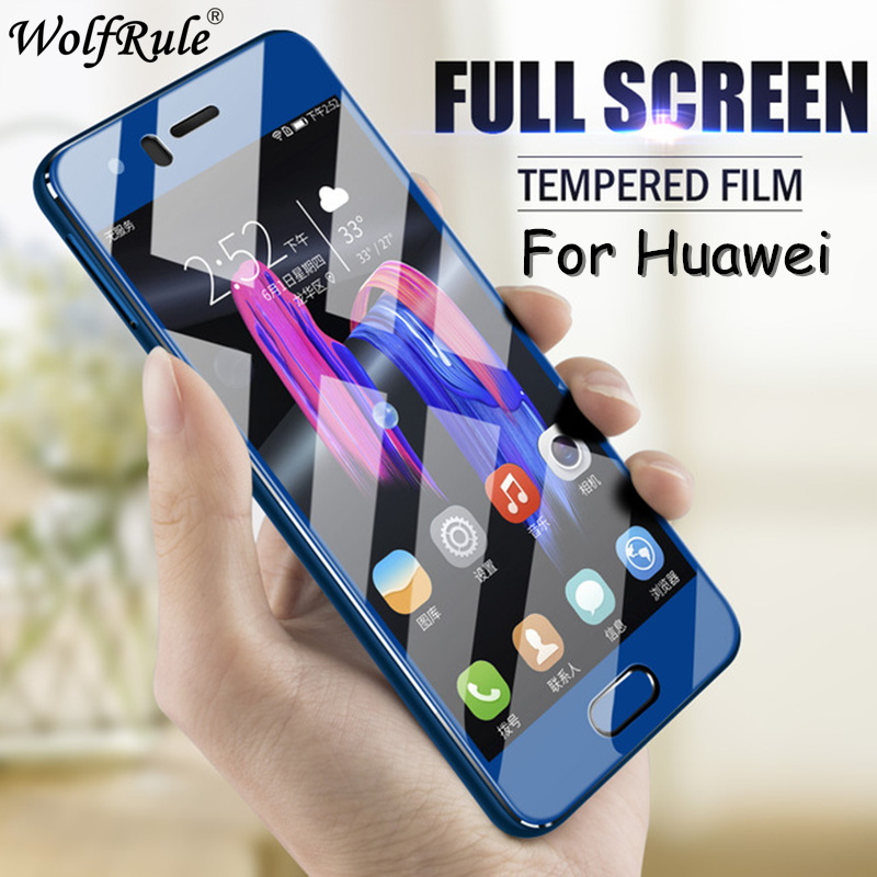 For Huawei P Smart 2018 Glass Full Cover Tempered Glass For Huawei P10 Honor 10 7A 7C Y7 Prime 2018 Screen Protector On Honor 7A