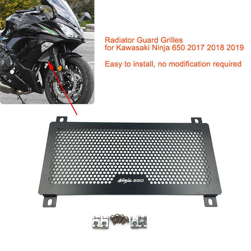 Motorbike Radiator Grille Cover Guard Protection Side For Kawasaki Z650 17 2018