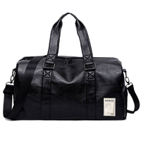 Sport Pu Leather Gym Male Bag Top Female Sport Shoe Bag for Women Fitness Over Outside Yoga Bag Small Big Travel bags Black