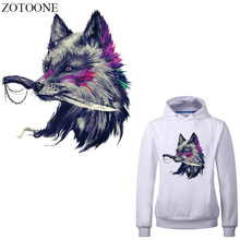 ZOTOONE Cool Wolf Patches Heat Transfer Vinyl Stickers on Clothes Applique Iron Transfers for Clothing DIY T-shirt Dress