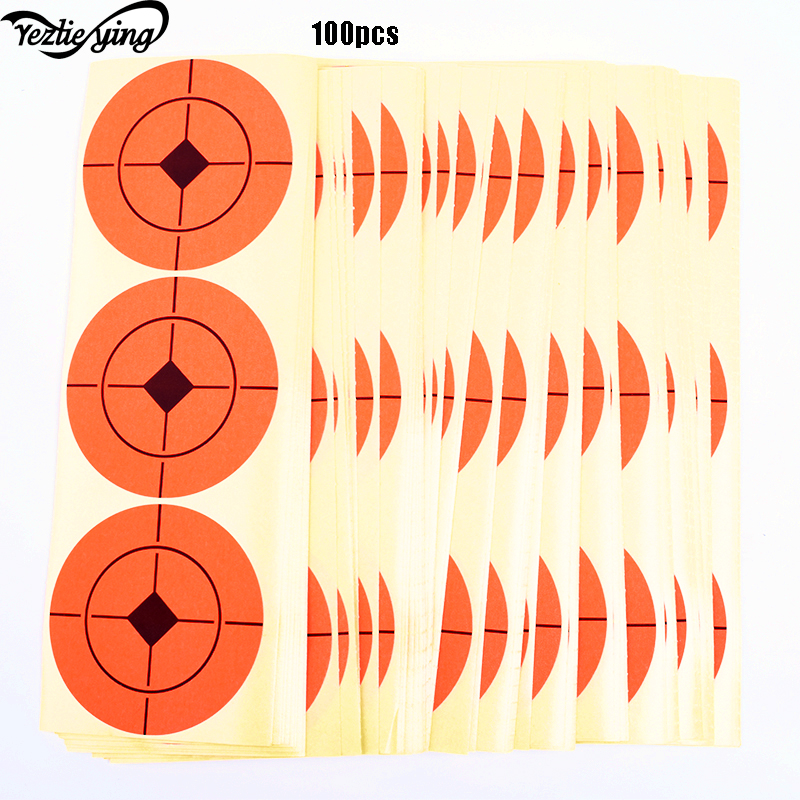 100 PCS 7.5cm x 7.5cm Archery Rifle Pistol Target Paper For Both Long And Short Distance Shooting Hunting Archery Practice