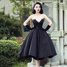 black Evening Dresses Vintage Custom Made Formal Gowns Arabian robe de soiree Black Dress Off Shoulder V neck Fashion