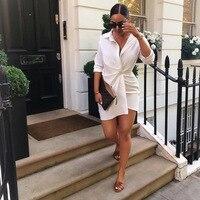 d6d6d1b46e3a2f 2018 New Sexy Dress Shirts Women Sexy Casual Bodycon Tight Stripes Short  Dress Female Slim Zipper