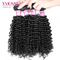 Grade 7A Brazilian Virgin Hair 4 Bundles,Top Quality Malaysian Curly Hair,New Arrival Aliexpress YVONNE Hair Products,Color 1B